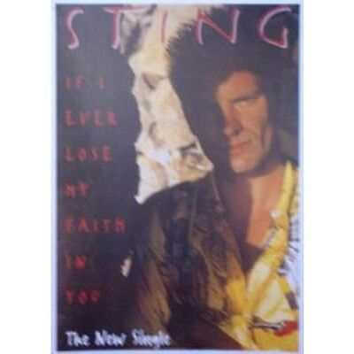 STING If I Ever Lose My Faith In You POSTER UK 86 X 61 Cm Colour Poster