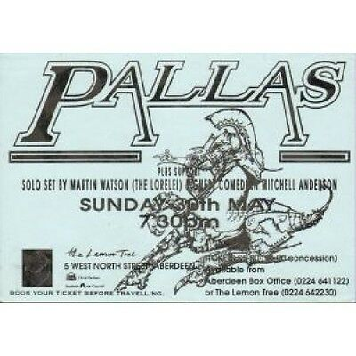 PALLAS Lemon Tree 30 May 1993 FLYER UK 1993 Double Sided A5 Flyer For Gig At