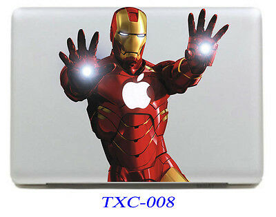 Iron Man Laptop Skin Sticker Decal For MacBook Air Mac Book Pro 13 Inch Ironman