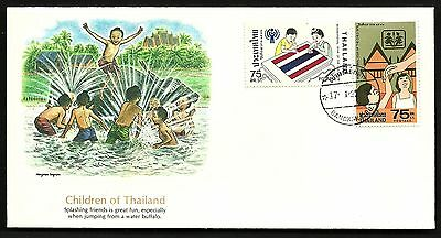 "FDC WORLDWIDE 1979 First Day Cover "" The World of Children "" THAILAND"