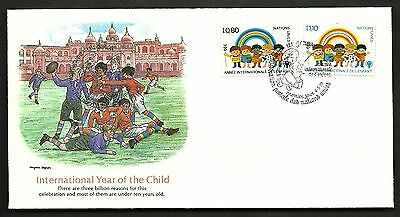 "FDC WORLDWIDE 1979 First Day Cover "" The World of Children "" YEAR OF THE CHILD"