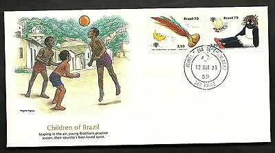 "FDC WORLDWIDE 1979 First Day Cover "" The World of Children "" BRAZIL"