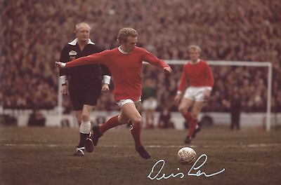 Denis Law Manchester United Original Hand Signed Photo 12x8 With COA