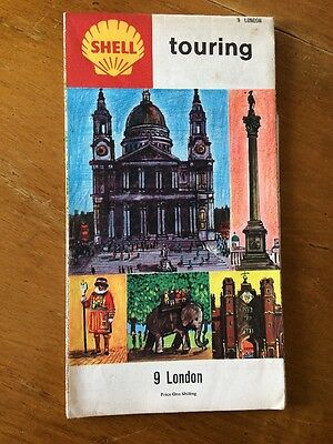 Vintage Shell Touring 9 London England Map 1966 Collectors