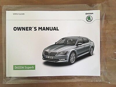 Skoda Superb 05.2016 Owners manual/hand book mint