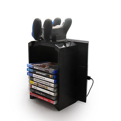 Game Tower Storage Standfuß  mit Ladestation Controller  für PS4/Slim/Pro