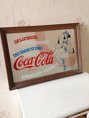 Collectible/ Memorabilia,Framed Coca Cola Mirror