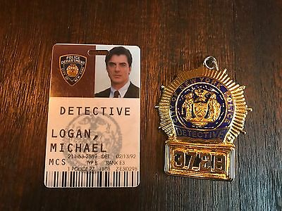 Screen Used, Prop NYPD Police Badge & ID Card From Law & Order Criminal Intent,