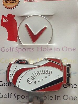 Golf Hat Clip & Magnetic Ball Marker Red