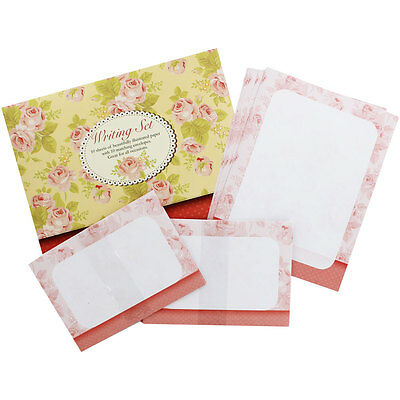 WRITING SET - ROSES - (10 Sheets and Envelopes) - NEW