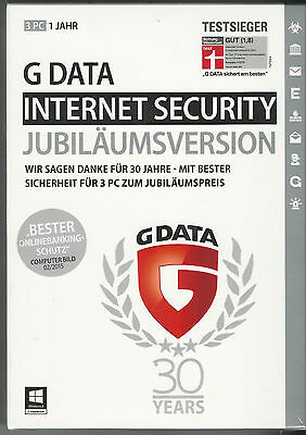 *G Data Internet Security 2017 3 PC*Vollversion*GData*Key*