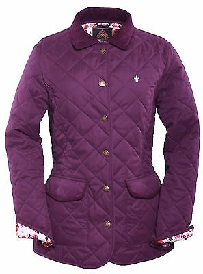 Bnwt;albany;ladies Quilted Coat;grape:10