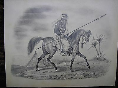 Drawing Greek?  Figure on Horse. Circa 1840's.