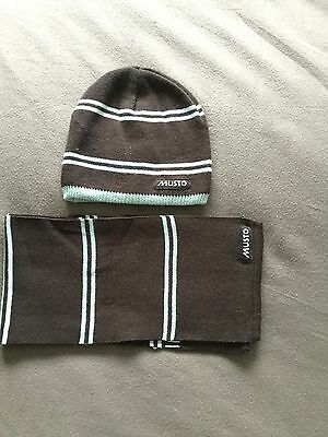 Mens Musto Hat And Scarf Set, Wool Blend