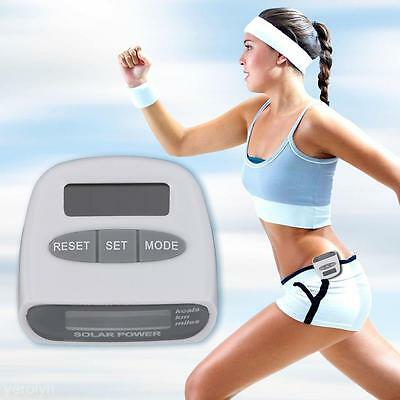 EcoLinq Solar Powered Pedometer Running Step Distance Counter