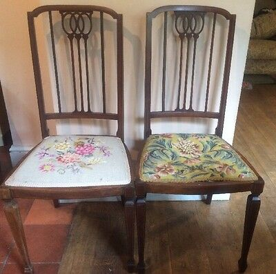 Pair Of Pretty Edwardian Bedroom Chairs