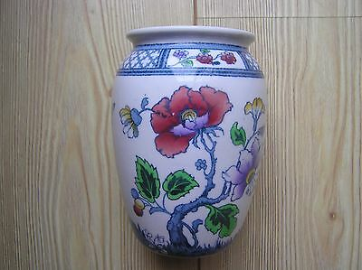 """Keeling & Co Losol Ware Springfield Floral Pattern Vase: 6"""" Tall: Good Condition"""