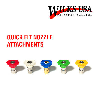 Set of 5Pcs Quick Fit Connect High Pressure Spray Nozzles Pressure Washer Nozzle