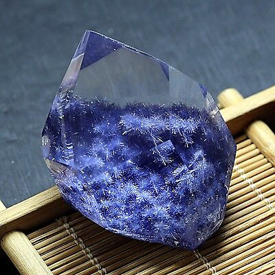 300ct  Rare NATURAL Clear Beautiful Blue Dumortierite Crystal Polished Specimen