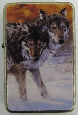 Wolf Design Star Lighter In Gift Tin
