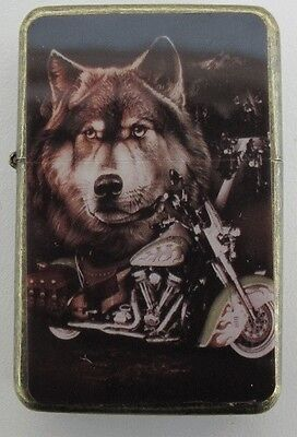 Wolf & Bike Design Star Lighter In Gift Tin