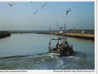 Southwold Harbour - Old Postcard By Reydon Womens Institute (7I43)