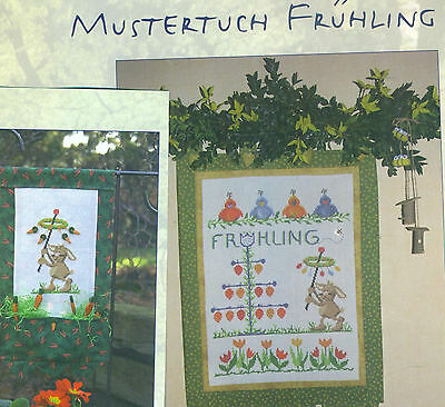 Mustertuch: Frühling  + Hase