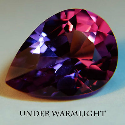 7.95ct.AWESOME RUSSIAN COLOR CHANGE ALEXANDRITE PEAR GEMSTONE