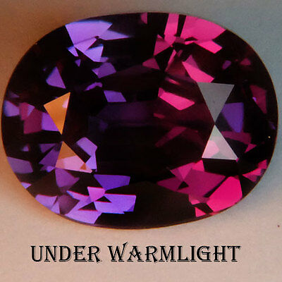 12.55ct.AWESOME RUSSIAN COLOR CHANGE ALEXANDRITE OVAL GEMSTONE