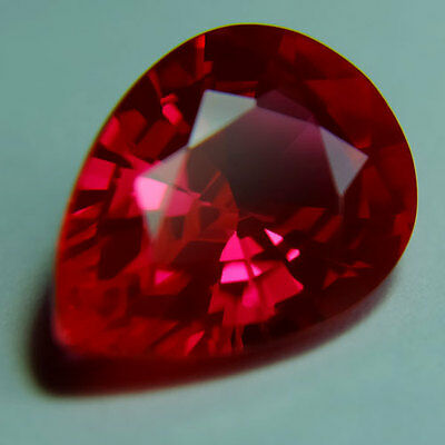 8.75ct.AWESOME BLOOD RED RUBY PEAR LOOSE GEMSTONE