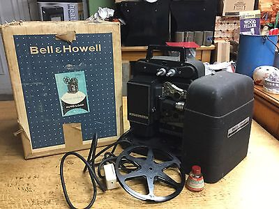Old Vintage Bell & Howell 256EX Projector - Boxed & Working