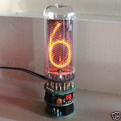 1 Digit In-18 Big Nixie Clock , 2 Alarm , With Tube !