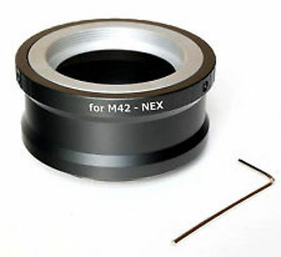 M42-NEX Lens Adapter For M42 Lens To Sony E-mount + Allen Key UK Seller