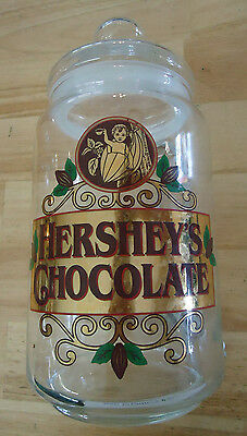 Vintage Hershey's Chocolate Glass Canister