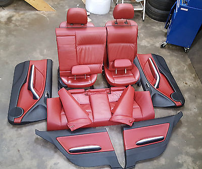 Bmw 3 Series E46 Coupe Full Tanin Red Interior Electric Seats  *see Video*