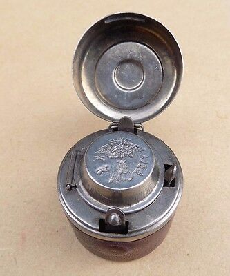 Antique KKA PRIV Military Travelling Inkwell