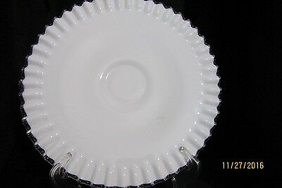 Fenton Silver Crest Footed Cake Plate Marked on bottom