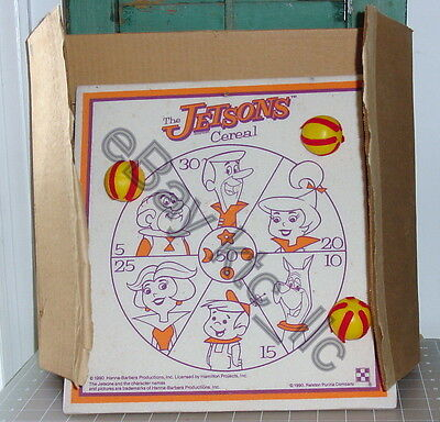 "RARE 1990 vintage Ralston ""THE JETSONS CEREAL"" velcro BALL BOARD advertising VIB"