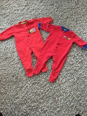 Baby Boys Sleepsuits Size 3-6 Months