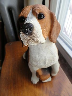 SandiCast BEAGLE AND PUPPY large Figurine tall 8""