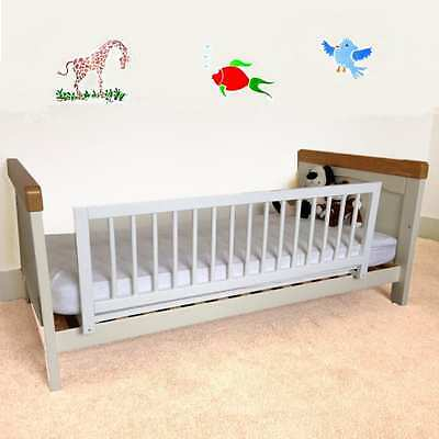 Kids Sarefty Wooden Bed Rail Safetots Guard - White