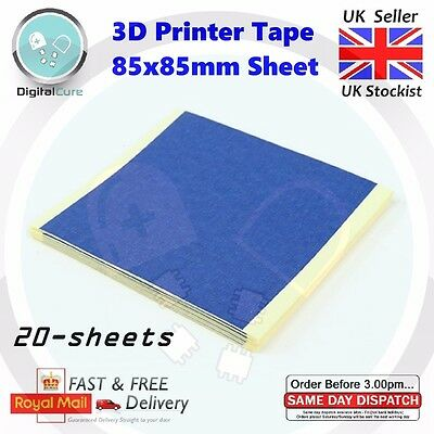 20x BLUE 3D Printer Printing Bed Masking Tape Adhesive Sheets 85 x 85mm