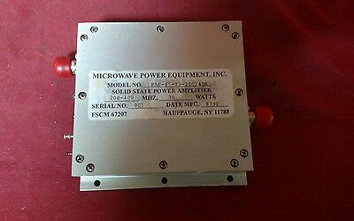 Microwave Power Equipment Solid State Power Amplifier Model #PAS-45-33-200/400 S