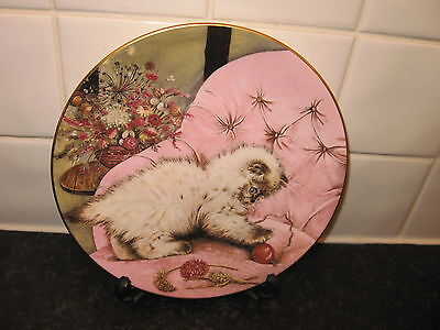 Cat   Plate - Little Rascal - Kitten Classics  -    Hamilton