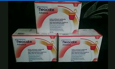 New Neocate advance unflavoured 30 x 100g sachets formula powder 3 boxes