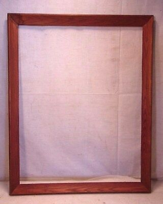 Large Vintage Solid Wood Frame 28x40 Holds 24x36 Molding 2 14