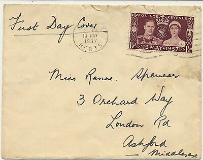 1937 FDC Coronation of King George VI . First day off issue