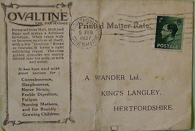 GB Stamps Commerial Letter 1937
