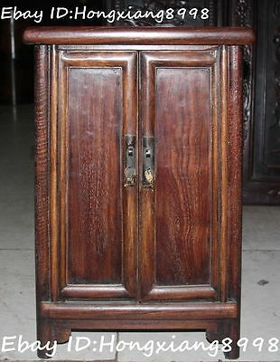 """22""""Old China Ancient Dynasty Wood Carved sark cupboard cabinet Box Boxes Statue"""
