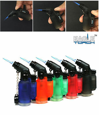 5 Pack 45 Degree Angle Jet Flame Butane Torch Lighter Refillable Windproof Cigar